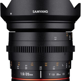 Samyang 20mm T1.9 VDSLR ED AS IF UMC - Canon EF-M Fit