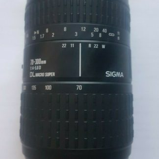 Sigma 70-300mm F4-5.6 D DL Macro Super Lens - Nikon Fit - Non-Motorised