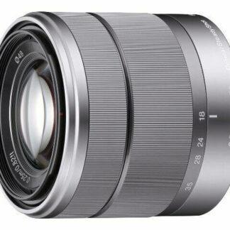 Silver SEL1855 E Mount 18-55mm F/3.5-5.6 OSS Zoom Lens for Sony Mirrorless Cam.