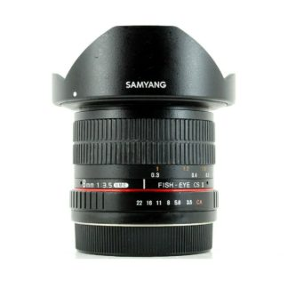 Samyang 8mm f/3.5 IF UMC CS II Canon EF-S Fit Lens