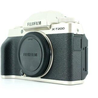 Fujifilm X-T200 24.2MP Mirrorless Digital Camera black Silver