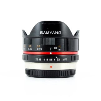 Samyang 7.5mm f/3.5 UMC Lens For micro Four Thirds - Black