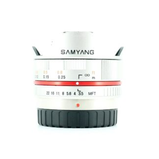 Samyang 7.5mm f/3.5 UMC Lens For micro Four Thirds - Silver