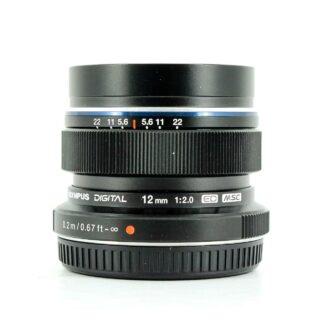 Olympus M.Zuiko Digital ED 12mm f/2 Lens - (Black)