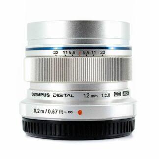 Olympus M.Zuiko Digital ED 12mm F2 Lens - Silver